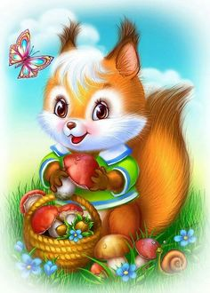 Diamond Painting Cross-Stitch Kits DIY Diamond Embroidery Pictures Of Rhinestones Paintings By Numbers Animal Squirrel