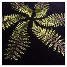 Embroidered ferns - Ellie Mac Embroidery