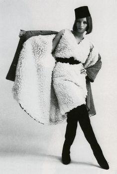 Barbara Streisand in Rudi Gernreich Ensemble, photographed by William Claxton for Show Magazine, 1964