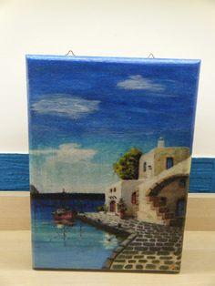 """Κλειδοθήκη με θέμα : """"Ελληνικά νησιά """" Blog, Painting, Art, Art Background, Painting Art, Kunst, Paintings, Gcse Art"""