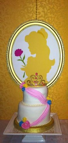 Hostess with the Mostess® - Princess Belle Cake Princess Belle Cake, Disney Princess Party, Princess Birthday, Girl Birthday, Beauty And The Beast Theme, Disney Beauty And The Beast, 6th Birthday Parties, Birthday Ideas, Princesas Disney