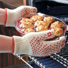 Shop Oven Glove at CHEFS.  - so need these. Oven mitts just don't last & are thin.  Use a pr when I worked in a bakery...awesome