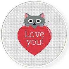 FREE Kitty Love Cross Stitch Pattern
