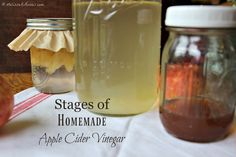 How to make easy apple cider vinegar at home. Uses just 2 ingredients and step by step instructions, I'm getting a batch going today!