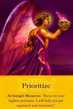 Free Angel Card Reading from Archangel Metatron: Prioritize...