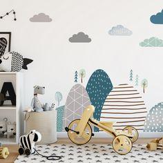 Nálepky na stenu - hviezdičky a oblaky | INSPIO Kids Room Design, New Wall, Scandinavian Style, Kids Bedroom, Baby Room, Wall Murals, Kids Rugs, Projects, Home Decor