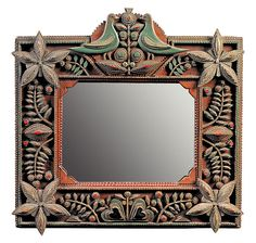 Antiques & Fine Art - Pollack, Frank & Barbara American Antiques & Art - An Extraordinary Painted and Carved Mirror