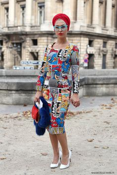 street style #EvaAnaKazic in #Paris #streetstyle. Picture by @MariePaolaBH