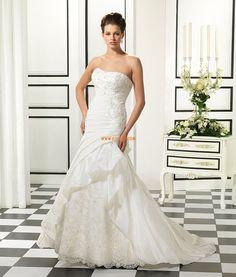 Balayage / pinceau train Col en cœur Brillant & Séduisant Robes de mariée 2014