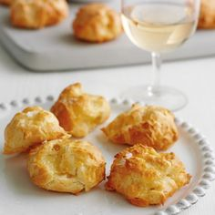 For our Emmental goujeres recipe, and other great recipes, visit Red Online. Christmas Canapes, Christmas Party Food, Christmas Treats, Pre Christmas, Christmas Recipes, Canapes Recipes, Party Recipes, Appetizers, Summer Recipes