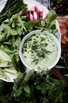 Crudités with Green Goddess Dip Green Goddess Dip, Easy Salads, Open Kitchen, Williams Sonoma, Fresh Vegetables, Food Inspiration, Conversation, Dips, Cabbage