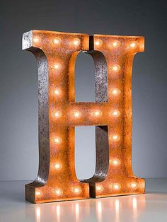 Vintage Letters Marquee Lights.