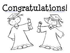 This coloring page is perfect for graduation Preschool and Kindergarten students. The pdf features artwork by KPM Doodles and displays a boy and gi. Graduation Message, Graduation Crafts, 8th Grade Graduation, Kindergarten Graduation, Teaching Kindergarten, Graduation Ideas, Teaching Ideas, Graduation Songs, College Graduation