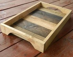 Serving Tray - My Timber Projects - Arte Pallet, Pallet Tray, Wood Pallet Art, Pallet Crafts, Diy Pallet Furniture, Diy Pallet Projects, Wood Pallets, Wood Crafts, Woodworking Projects