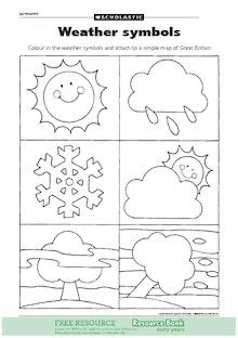 Pin By Maria Elena On W Is For Weather Symbols Weather Activities Preschool Weather Kindergarten