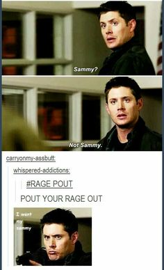 I want my Sammy awwwww LOL ☜(⌒▽⌒)☞ #Dean #Supernatural fandom