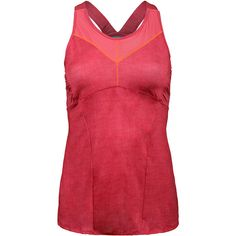 Stay on top of your game in the Lucky in Love Women's Summer Lovin Mesh V-Cami Tennis Tank! The built in bra offers light support and the elastic straps keeps everything in place. Moisture management fabric and a mesh inset on the neckline keeps you comfortable on court. The hibiscus pink color with a pop of orange stitching matches perfectly with other pieces from the Summer Lovin Collection!