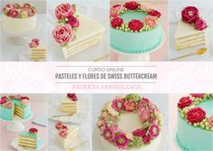 Curso Online de Pasteles y Flores de Swiss Buttercream - Patricia Arribálzaga www.cakeshautecouture.com