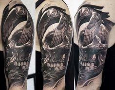Skull Tattoos 58 - 80 Frightening and Meaningful Skull Tattoos  <3 <3