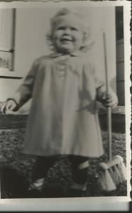 I've always been a dab-hand with a sweeping brush. (Early 1950s)