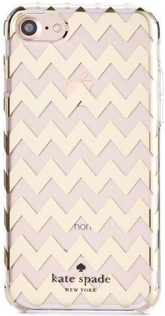 kate spade new york Chevron Gold Foil iPhone 7 Case $30 Shop Now!