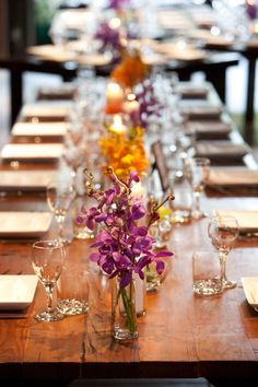 tropical centerpiece ideas | Found on lovellabridal.com