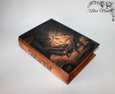 Große Buchschatulle Buchschachtel Buch Box Drachen von UltroViolet
