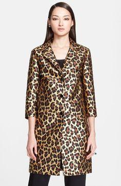 St. John Collection Lamé Leopard Jacquard Coat available at #Nordstrom $1895; CAbi estate jacket $168