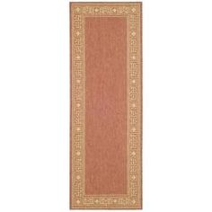 "Shop for Safavieh Indoor/Outdoor Rust/Sand Runner Rug (2'7"" x 8'2""). Get free shipping at Overstock.com - Your Online Home Decor Outlet Store! Get 5% in rewards with Club O!"