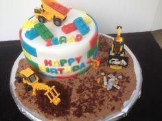 Lego constuction cake