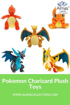 New Pokemon Charmander and Evolution Set Plush Toys Pokemon Charizard, Pokemon Plush, New Pokemon, Birthday Present For Husband, Birthday Gifts For Boys, Pokemon Charmander Evolution, Pokemon Gifts, Cool Toys, Kids Toys