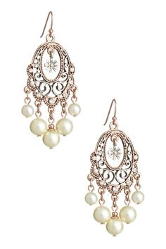 My earings for the wedding!