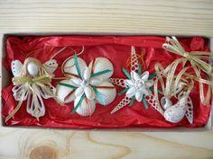 Sea Shell Christmas Ornaments (4 Pc. Box Set).