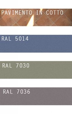 floor example - pavimento in cotto Paint Color Chart, Terracotta Floor, Miami Houses, Blue Colour Palette, House Tiles, Aesthetic Room Decor, Floor Colors, Colorful Decor, House Painting