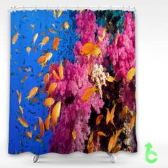 #coral #reef #fish #Shower #Curtain #showercurtain #decorative #bathroom #creative #homedecor #decor #present #giftidea #birthday #men #women #kids #newhot #lowprice #cover #favorite #custom #friend
