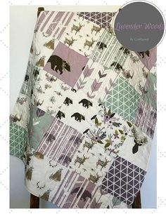 Hey, I found this really awesome Etsy listing at https://www.etsy.com/listing/467669747/lavender-baby-quilt-purple-lavender