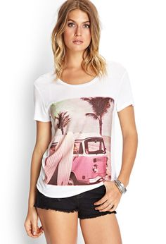 Slouchy Beach Scene Tee | FOREVER21 #SummerForever #GraphicTee