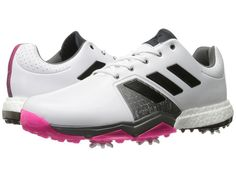 adidas Golf Adipower Boost 3 Men's Golf Shoes Ftwr White/Core Black/Shock Pink