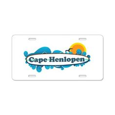Cape Henlopen DE - Surf Design Aluminum License Pl on CafePress.com