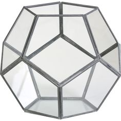 The perfect home for a verdant succulent or pillar candle, this faceted terrarium adds geometric appeal to your mantel or writing desk.