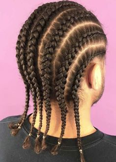 Cornrow Styles For Men, Cornrow Hairstyles For Men, My Hairstyle, Ponytail Hairstyles, Curly Hair Styles, Natural Hair Styles, 60s Hairstyles, Simple Hairstyles, Black Hairstyles