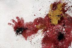Iron-man splatter art.