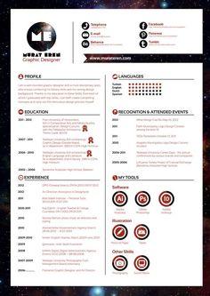 Business infographic : Curriculum Vitae by Murat Eren via Behance Graphic Design Cv, Cv Design, Resume Design, Portfolio Resume, Portfolio Design, Template Portfolio, Portfolio Images, Resume Tips, Resume Cv