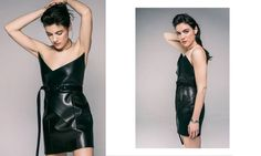 Saint-Laurent leather dress | YouStrikeMyFancy
