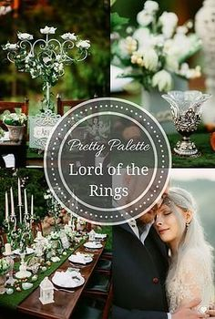 Elven / Lotr / Lord of the Rings Wedding Design and Decor. Diy  Table setting. Moss & Green & Blue & White & by Satori Art & Event Design