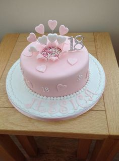 New Birthday Cake Girl Simple 33 Ideas 18th Birthday Cake For Girls, 19th Birthday Cakes, Elegant Birthday Cakes, New Birthday Cake, Birthday Ideas, Rodjendanske Torte, 18th Cake, Girl Cakes, Fondant Cakes