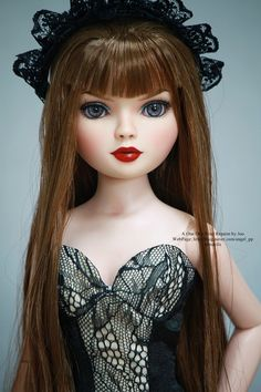 Joo's Repainted Ellowyne doll with glass eyes.