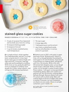 """Stained Glass Sugar Cookies-  these would be TOTALLY cute if I could find alphabet cookie cutters and do """"MS"""" with orange as the stained glass part!"""