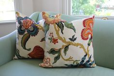 Schumacher Hot House Flowers Spark Covers by by Aurelia6311