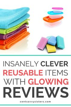 Clever Reusable Products with Great Reviews - If you want to save money on household expenses, switching from disposable to reusable products is a great step in the right direction. Check out these awesome reusable kitchen items by clicking through to this post! #reusable #green #savemoney #money #kitchen #centsavvysisters